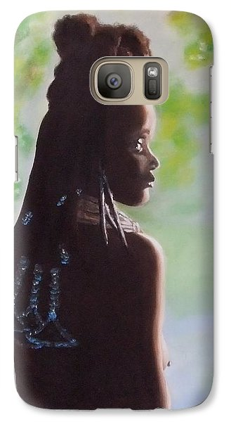 Galaxy Case featuring the painting Spring In Africa by Annemeet Hasidi- van der Leij
