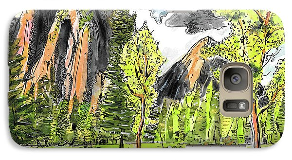 Galaxy Case featuring the painting Spring In Yosemite by Terry Banderas