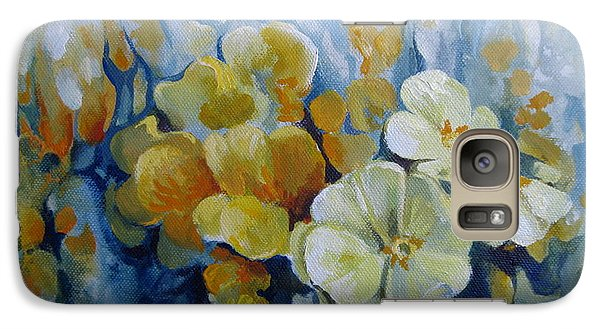 Galaxy Case featuring the painting Spring Inflorescence by Elena Oleniuc