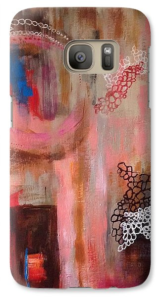 Galaxy Case featuring the painting Squiggles And Wiggles # 4 by Suzzanna Frank
