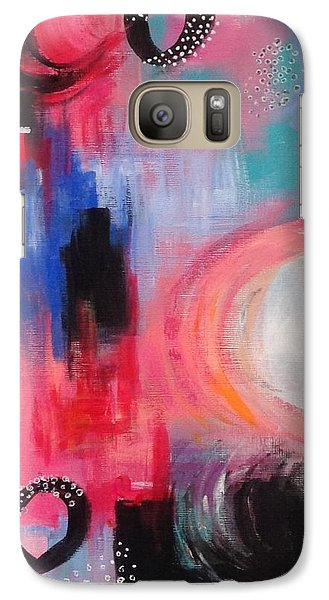 Galaxy Case featuring the painting Squiggles And Wiggles #3 by Suzzanna Frank