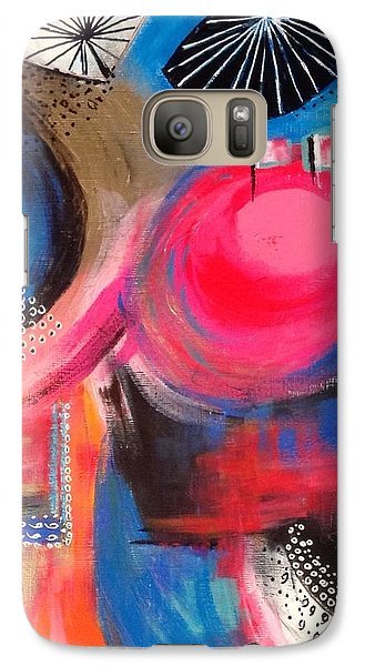 Galaxy Case featuring the painting Squiggles And Wiggles #1 by Suzzanna Frank