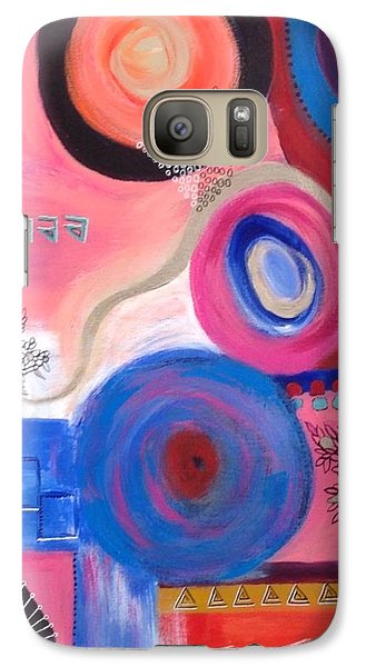 Galaxy Case featuring the painting Squiggles And Wiggles  #9 by Suzzanna Frank