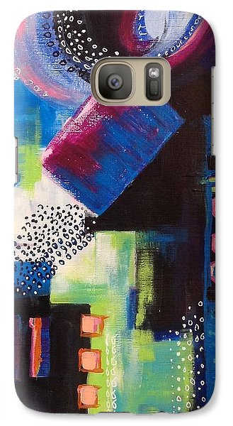 Galaxy Case featuring the painting Squiggles And Wiggles #6 by Suzzanna Frank
