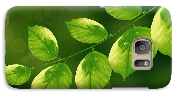 Galaxy Case featuring the painting Spring Life by Veronica Minozzi