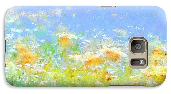 Spring Meadow Abstract Galaxy S7 Case