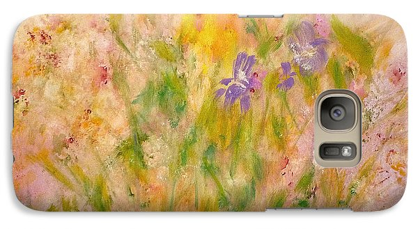 Galaxy S7 Case featuring the painting Spring Meadow by Claire Bull