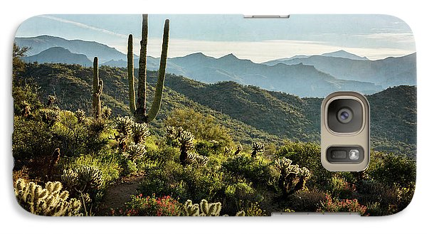 Galaxy Case featuring the photograph Spring Morning In The Sonoran  by Saija Lehtonen