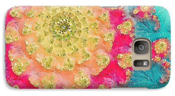 Galaxy Case featuring the digital art Spring On Parade 2 by Bonnie Bruno