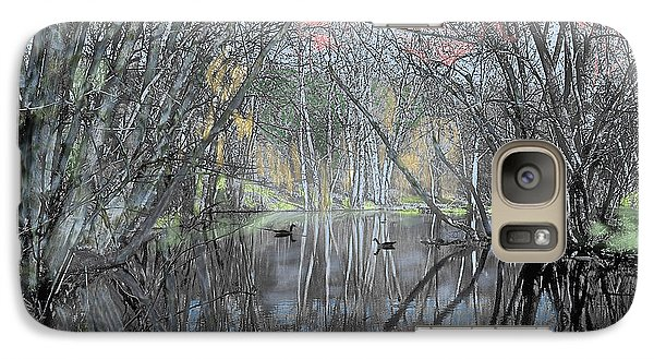Galaxy Case featuring the digital art Spring On The Backwater by John Selmer Sr