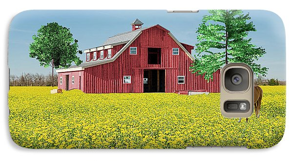 Galaxy Case featuring the photograph Spring On The Farm by Bonnie Barry