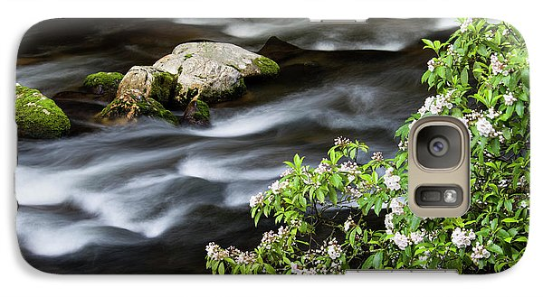 Galaxy Case featuring the photograph Spring On The Oconaluftee River - D009923 by Daniel Dempster