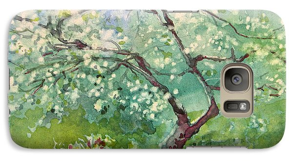 Galaxy Case featuring the painting Spring Plum by Elizabeth Carr