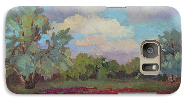 Galaxy Case featuring the painting Spring Poppies by Diane McClary