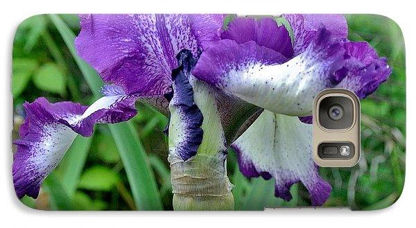 Galaxy Case featuring the photograph Spring Purple Iris by Marsha Heiken