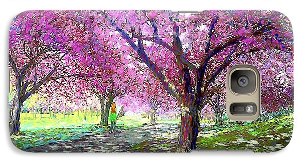 Seattle Galaxy S7 Case - Spring Rhapsody, Happiness And Cherry Blossom Trees by Jane Small