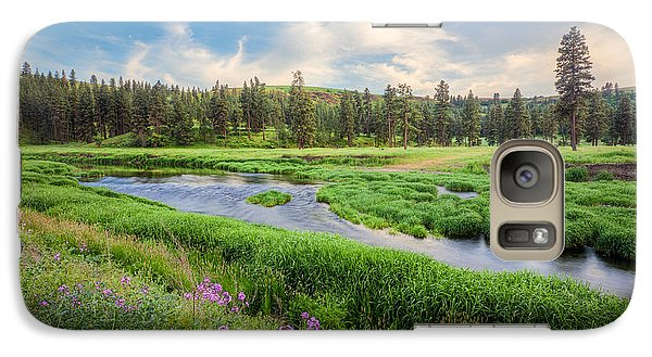 Galaxy S7 Case featuring the photograph Spring River Valley by Rikk Flohr