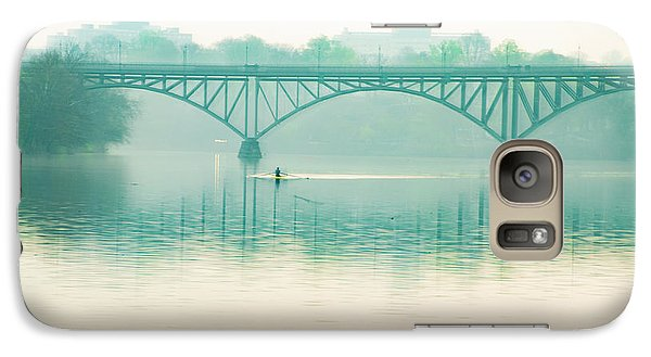 Galaxy Case featuring the photograph Spring - Rowing Under The Strawberry Mansion Bridge by Bill Cannon
