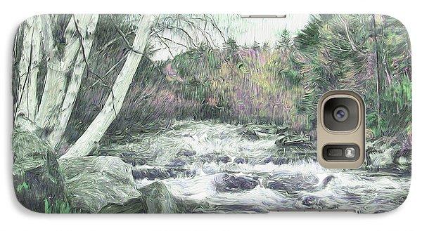 Galaxy Case featuring the digital art Spring Runoff by John Selmer Sr