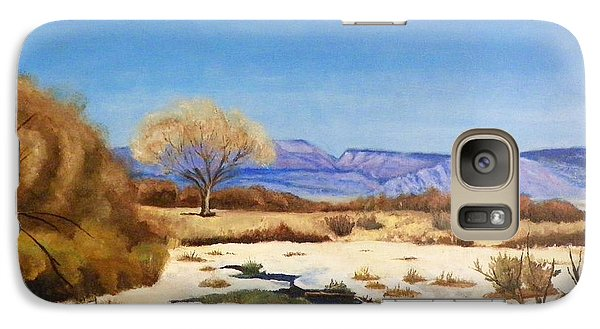 Galaxy Case featuring the painting Spring Runoff by Sherril Porter