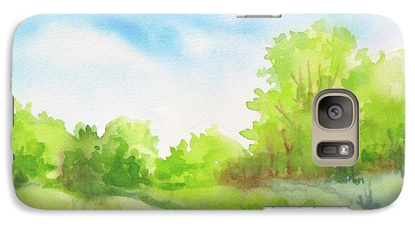 Galaxy Case featuring the painting Spring Scene by Inese Poga