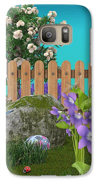 Galaxy Case featuring the digital art Spring Scene by Mary Machare