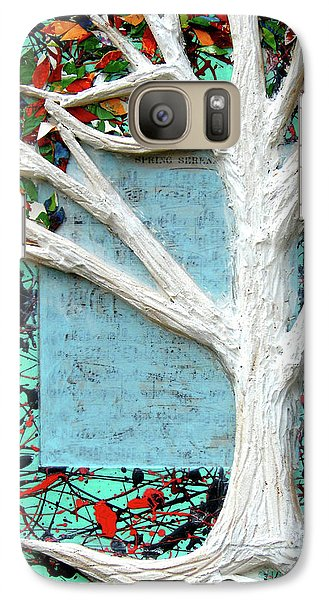 Galaxy Case featuring the painting Spring Serenade With Tree by Genevieve Esson