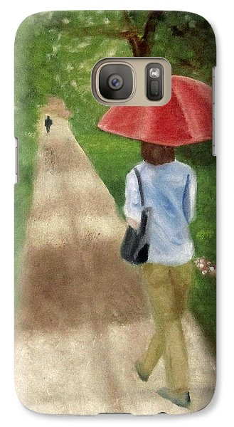 Galaxy Case featuring the painting Spring Series I by Patricia Cleasby