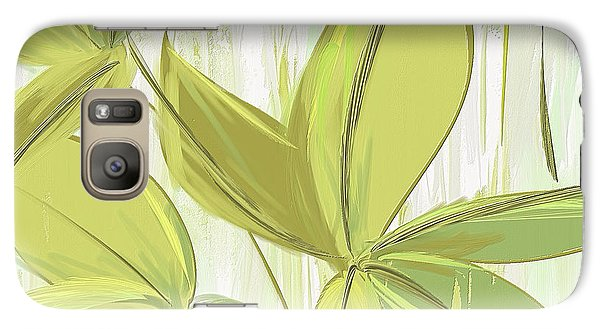 Spring Shades - Muted Green Art Galaxy Case by Lourry Legarde