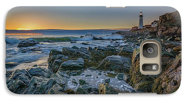 Galaxy Case featuring the photograph Spring Sunrise At Portland Head by Rick Berk