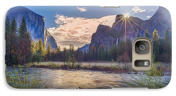 Spring Sunrise At Yosemite Valley Galaxy S7 Case