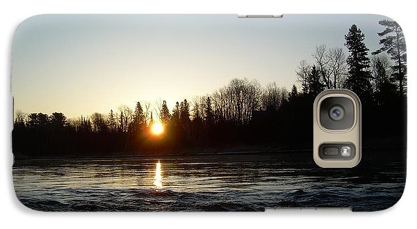 Galaxy Case featuring the photograph Spring Sunrise Over Mississippi River by Kent Lorentzen