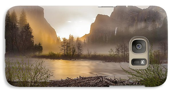 Galaxy Case featuring the photograph Spring Sunrise Valley View Yosemite National Park  by Scott McGuire
