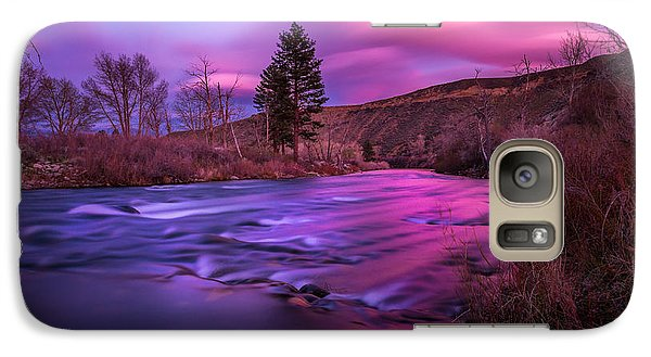 Galaxy Case featuring the photograph Spring Sunset Along The Truckee River Reno Nevada by Scott McGuire