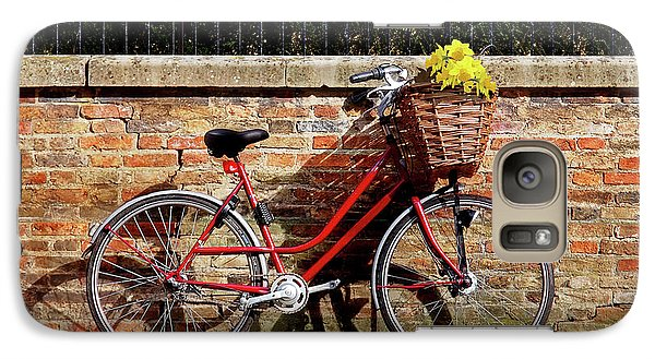 Galaxy Case featuring the photograph Spring Sunshine And Shadows - Bicycle In Cambridge by Gill Billington