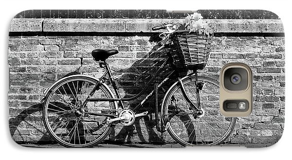 Galaxy Case featuring the photograph Spring Sunshine And Shadows In Black And White by Gill Billington