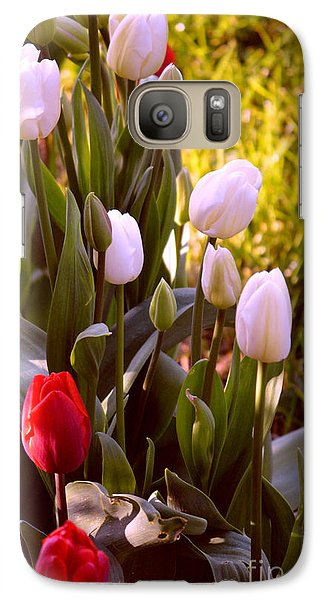 Galaxy Case featuring the photograph Spring Time Tulips by Susanne Van Hulst
