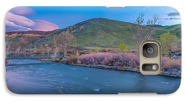Galaxy Case featuring the photograph Spring Twilight Along The Truckee River Reno Nevada by Scott McGuire