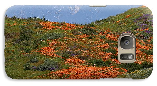 Galaxy Case featuring the photograph Spring Wildflower Display At Diamond Lake In California by Jetson Nguyen