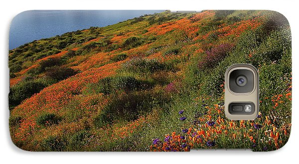 Galaxy Case featuring the photograph Spring Wildflower Season At Diamond Lake In California by Jetson Nguyen