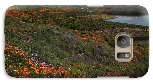 Galaxy Case featuring the photograph Spring Wildflowers At Diamond Lake In California by Jetson Nguyen