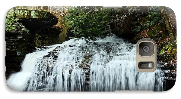 Galaxy Case featuring the photograph Springfield Falls by Skip Tribby