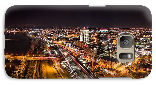 Galaxy Case featuring the photograph Springfield Massachusetts Night Long Exposure Panorama by Petr Hejl