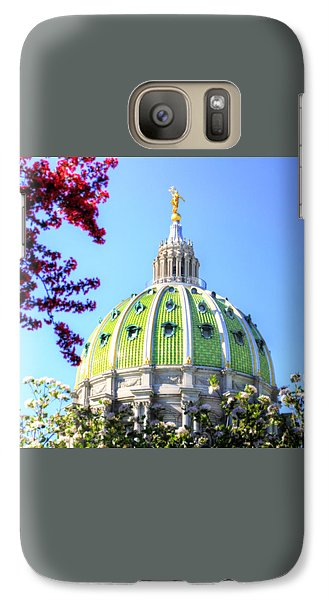 Galaxy Case featuring the photograph Spring's Arrival At The Pennsylvania Capitol by Shelley Neff