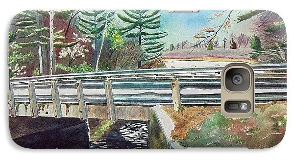 Galaxy Case featuring the painting Springtime At Bass Lake Bridge by LeAnne Sowa