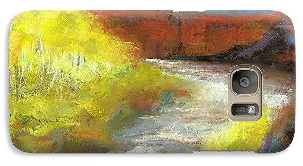 Galaxy Case featuring the painting Springtime In The Rockies by Frances Marino