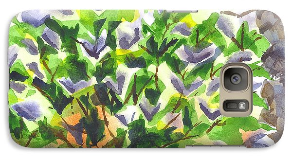 Galaxy Case featuring the painting Springtime Lilac Abstraction by Kip DeVore
