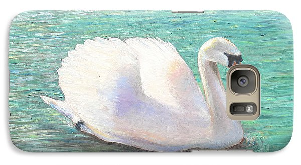 Galaxy Case featuring the painting Springtime On The River by Elizabeth Lock