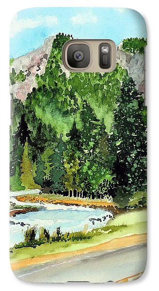 Galaxy Case featuring the painting Springtime Poudre Canyon by Tom Riggs