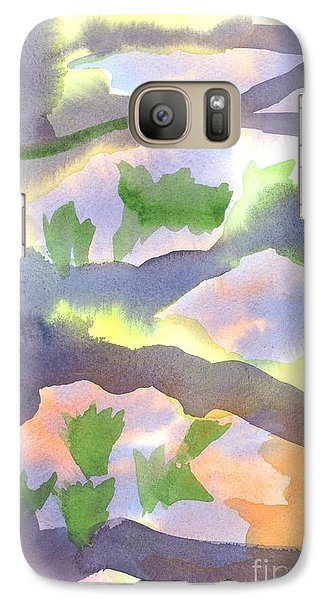 Galaxy Case featuring the painting Springtime Wildflower Camouflage  by Kip DeVore